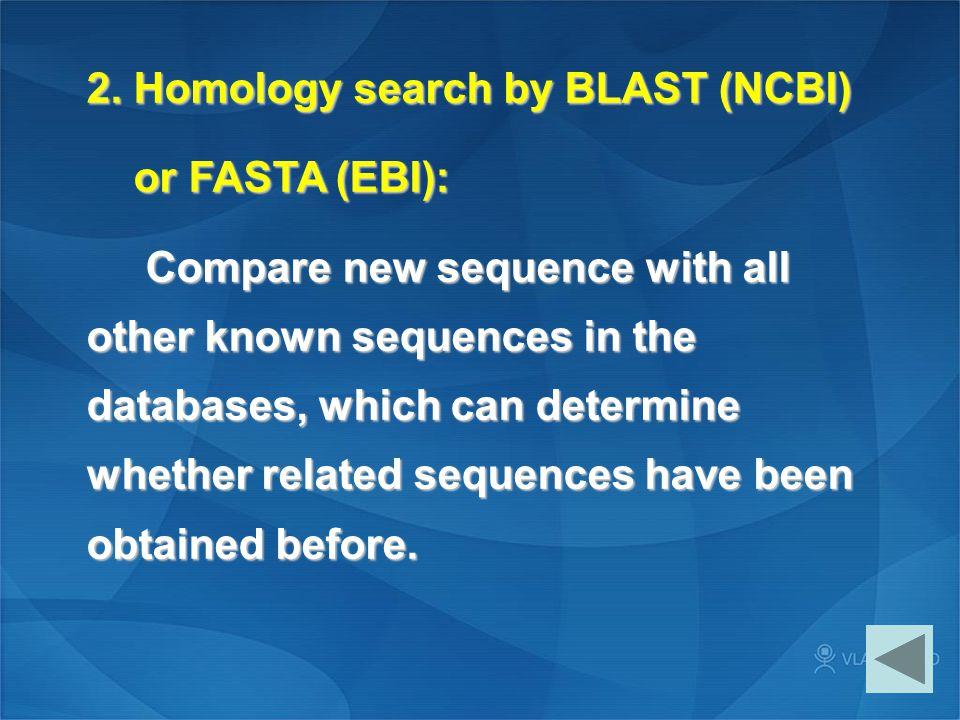 2. Homology search by BLAST (NCBI)