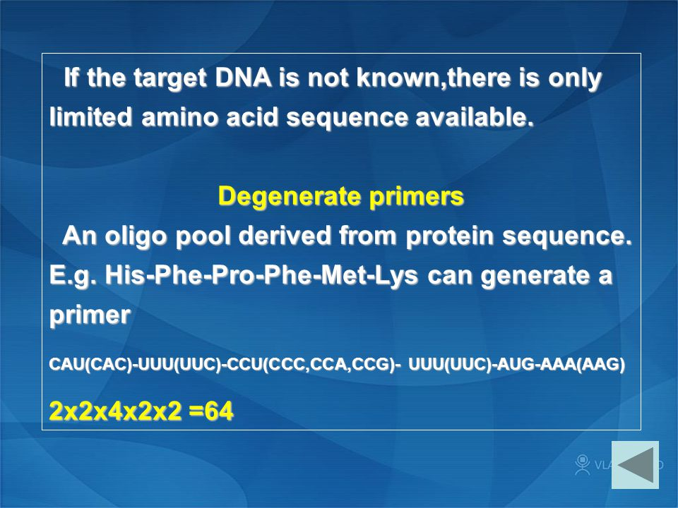 An oligo pool derived from protein sequence.