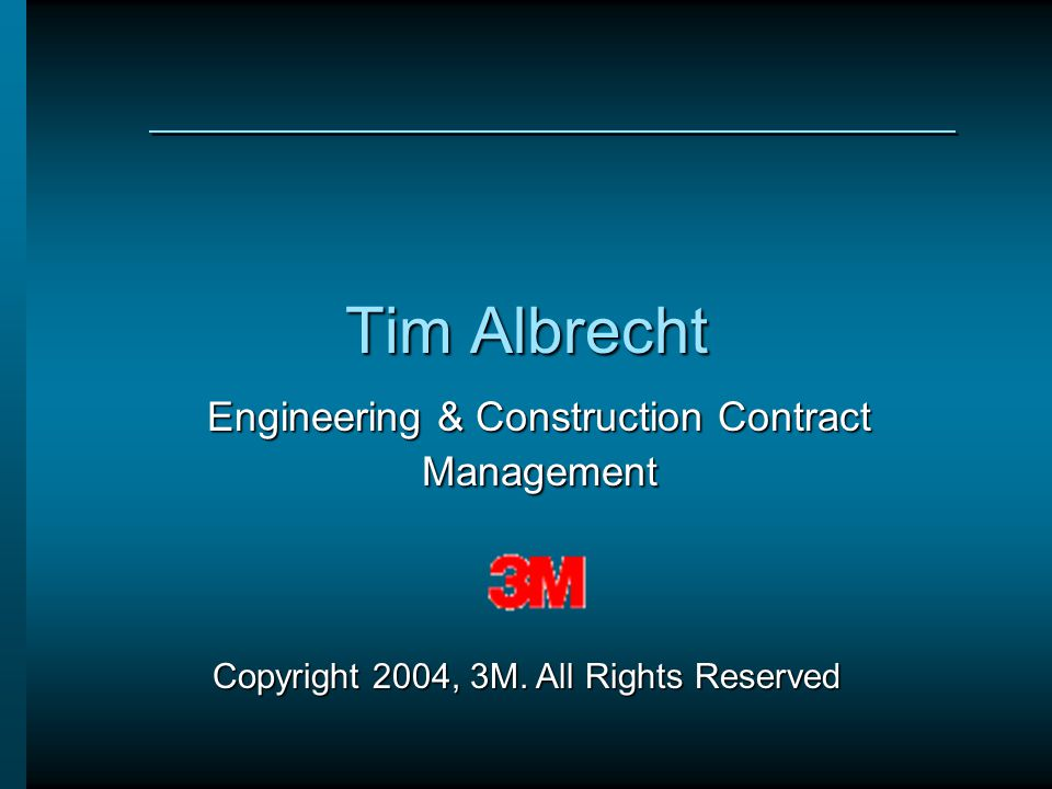Engineering & Construction Contract Management