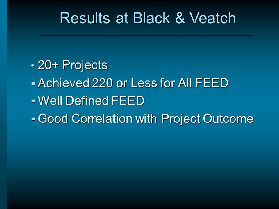 Results at Black & Veatch