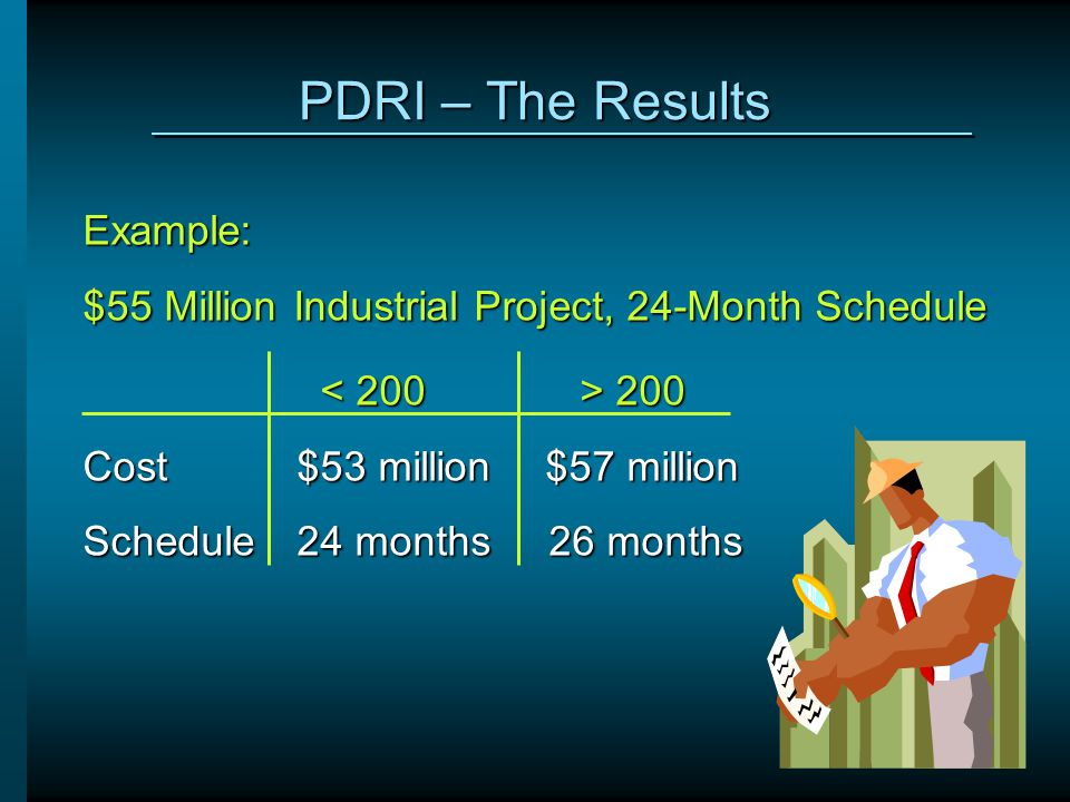 PDRI – The Results Example:
