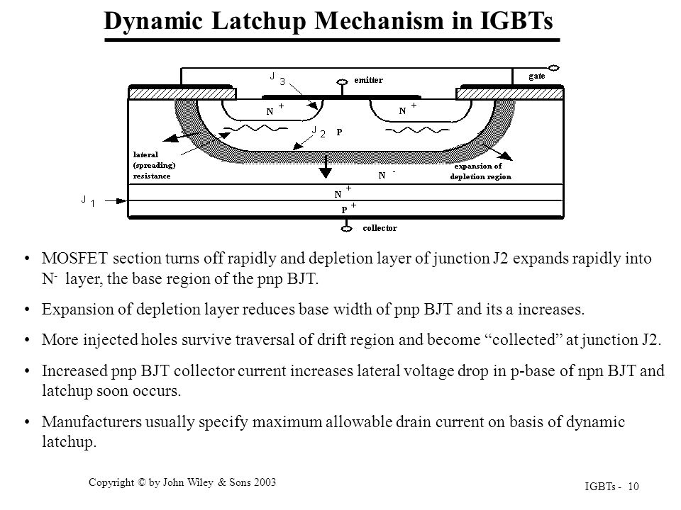 Dynamic Latchup Mechanism in IGBTs