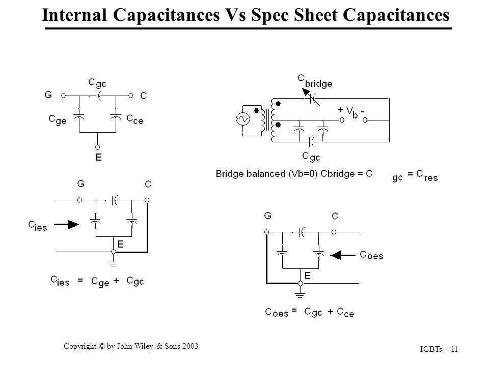 Internal Capacitances Vs Spec Sheet Capacitances