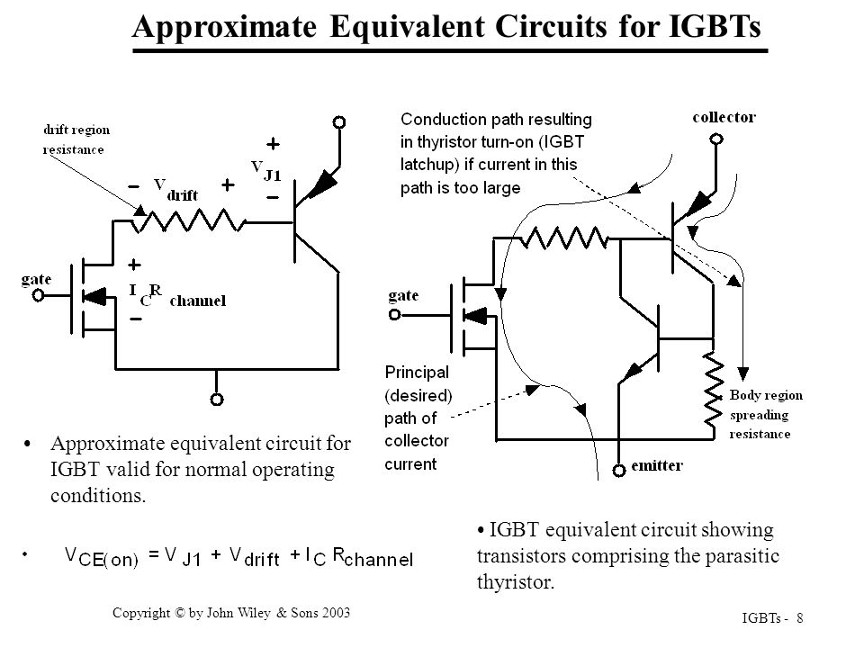 Approximate Equivalent Circuits for IGBTs