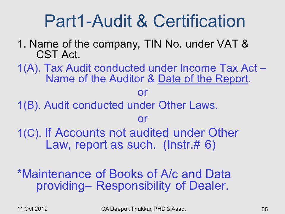 Part1-Audit & Certification