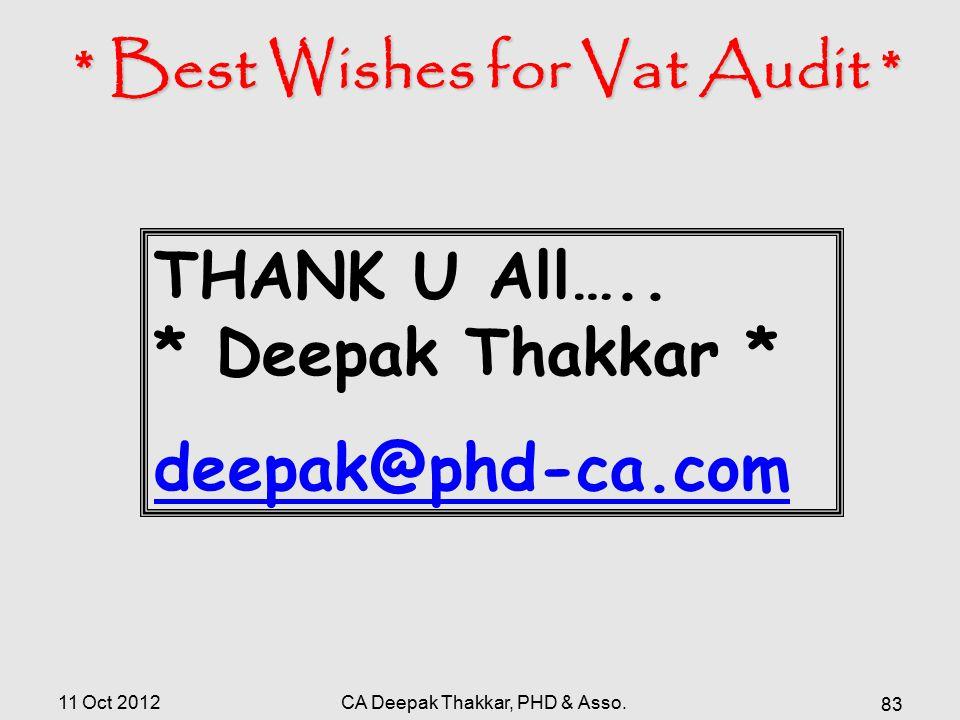 * Best Wishes for Vat Audit *