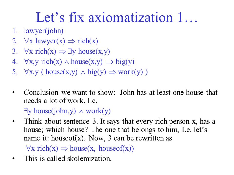 Let's fix axiomatization 1…