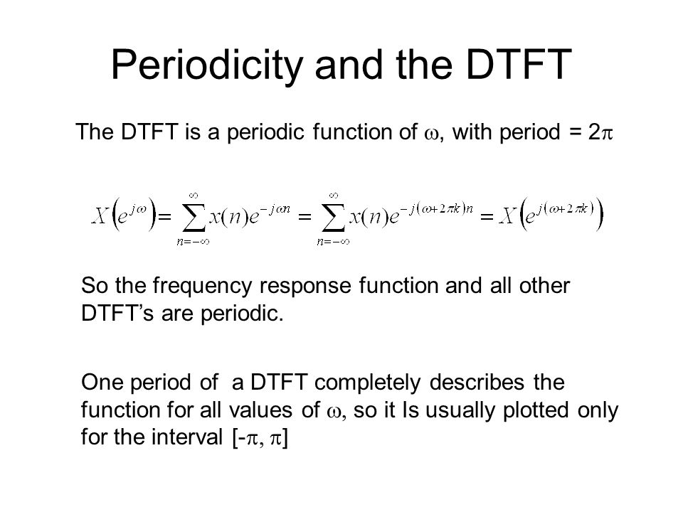 Periodicity and the DTFT