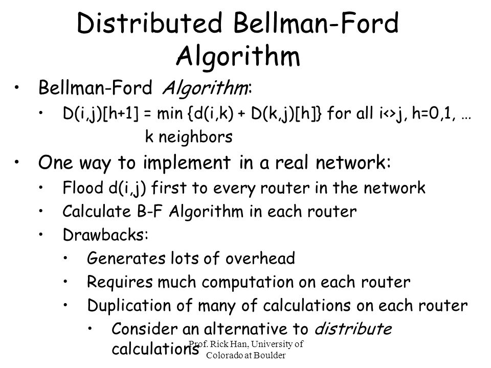Distributed Bellman-Ford Algorithm