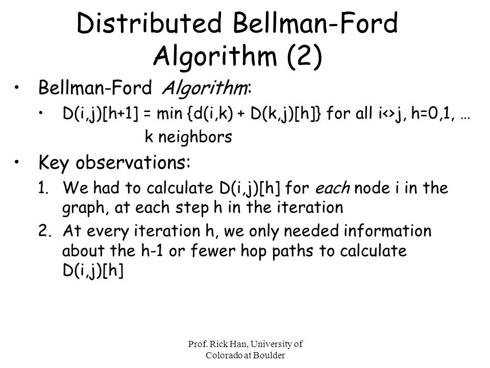 Distributed Bellman-Ford Algorithm (2)
