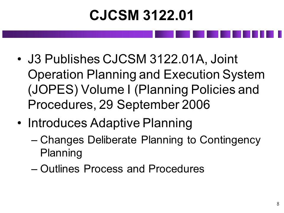 CJCSM 3122.01