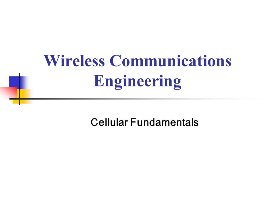 Wireless Communications Engineering