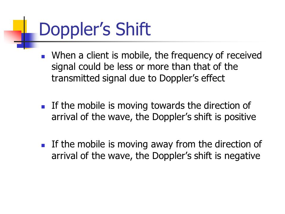 Doppler's Shift