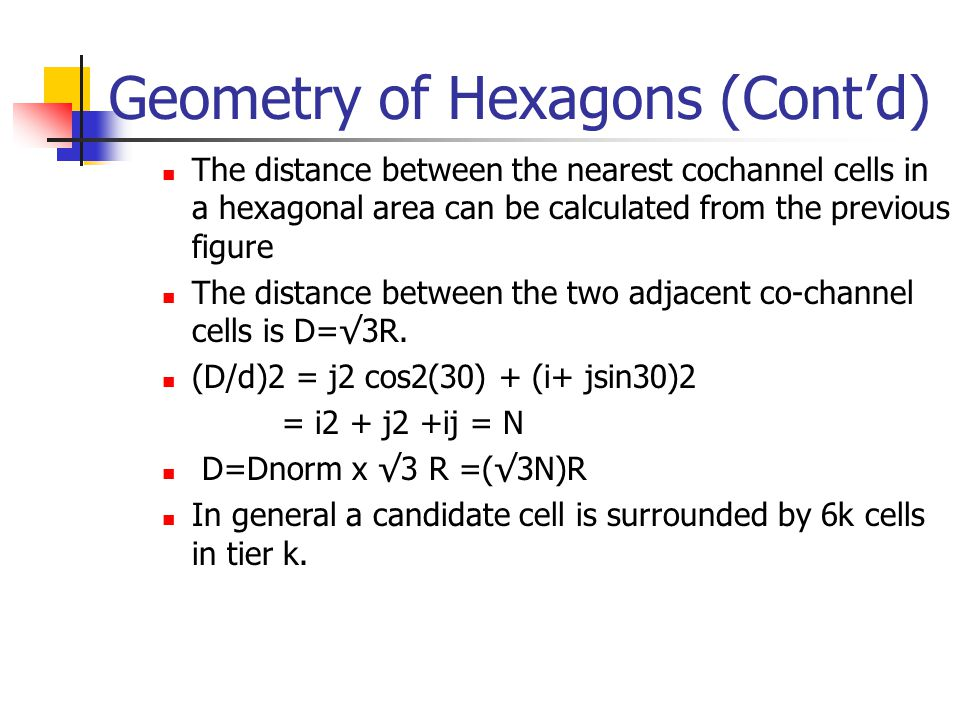 Geometry of Hexagons (Cont'd)