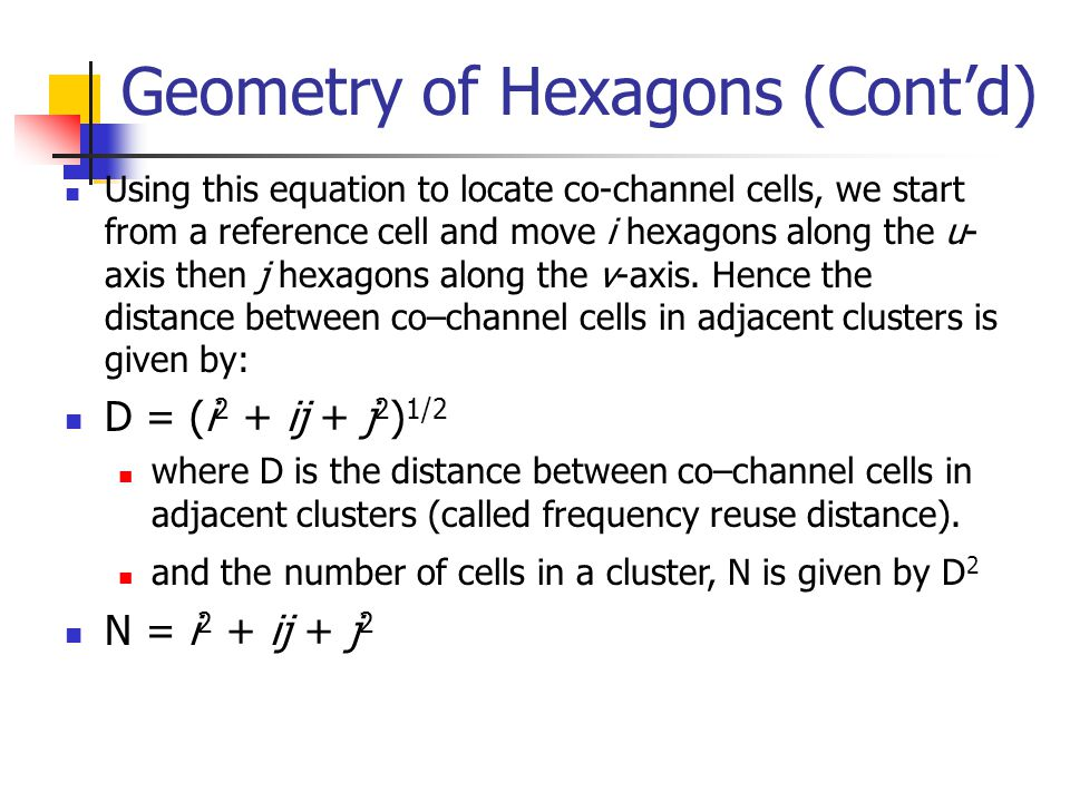 Geometry of Hexagons (Cont'd)