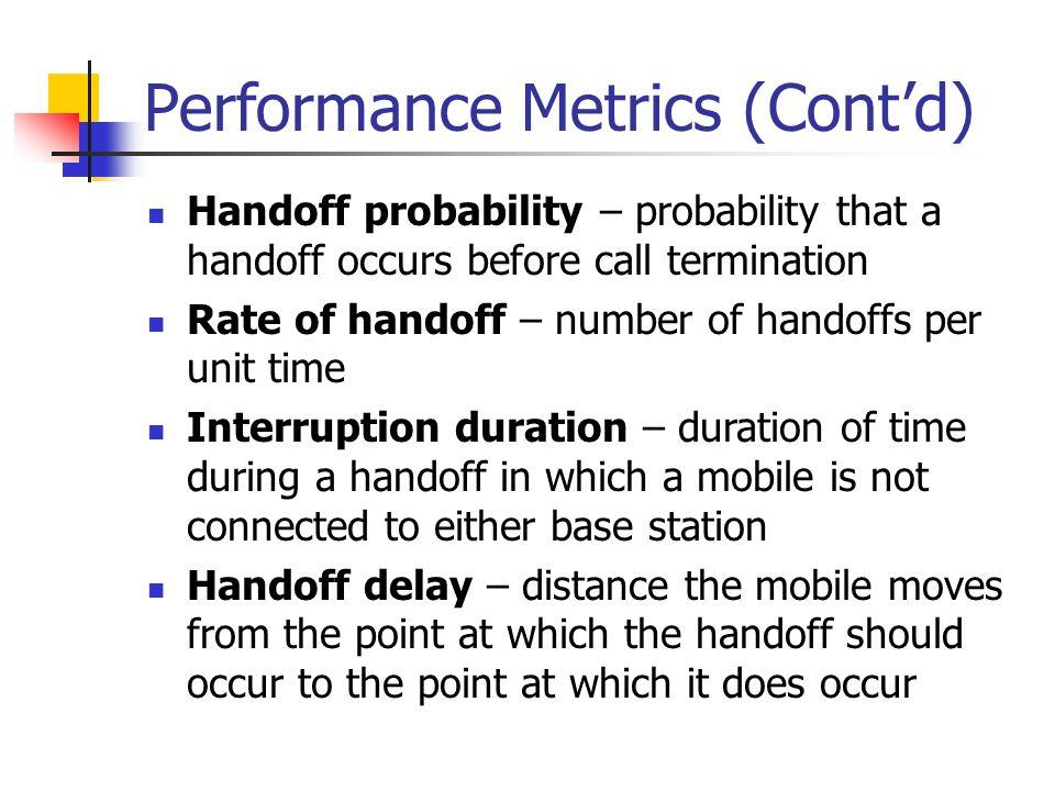 Performance Metrics (Cont'd)
