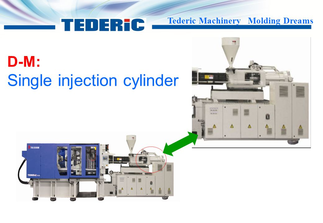 Single injection cylinder