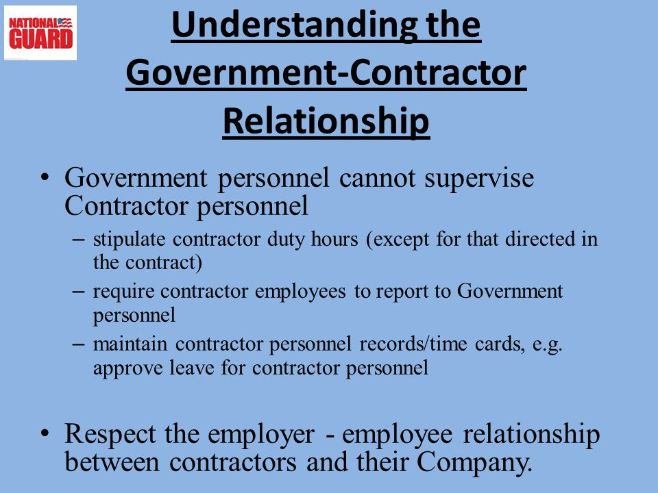 Understanding the Government-Contractor Relationship