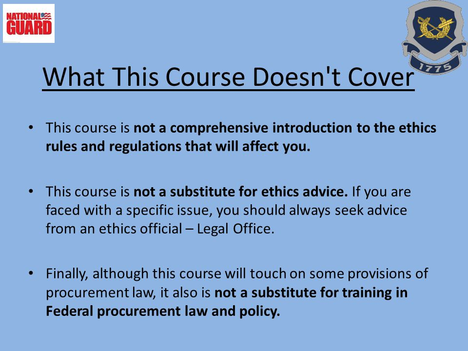 What This Course Doesn t Cover
