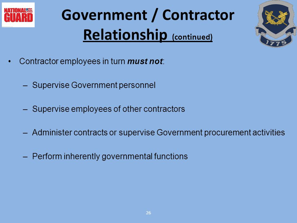 contractor and government relationship