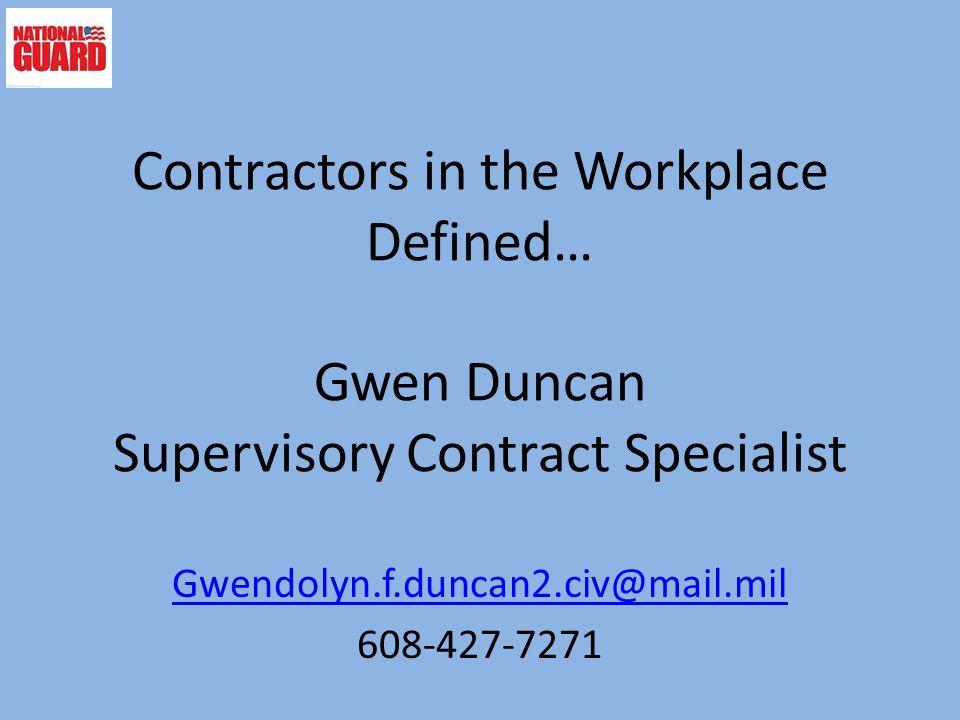 Gwendolyn.f.duncan2.civ@mail.mil 608-427-7271