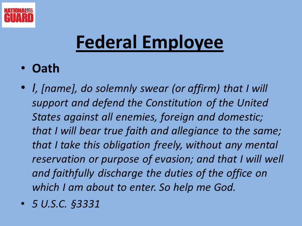 Federal Employee Oath.