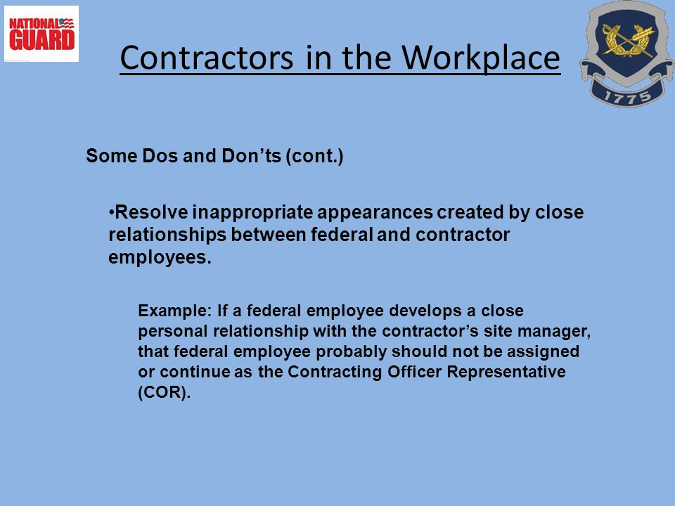 Contractors in the Workplace