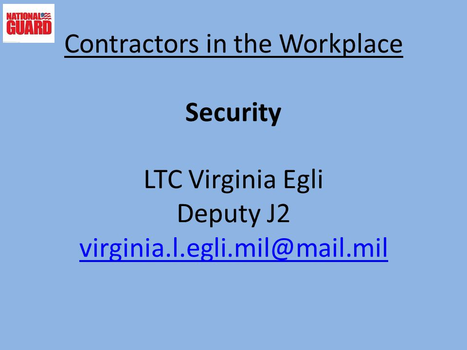 Contractors in the Workplace Security