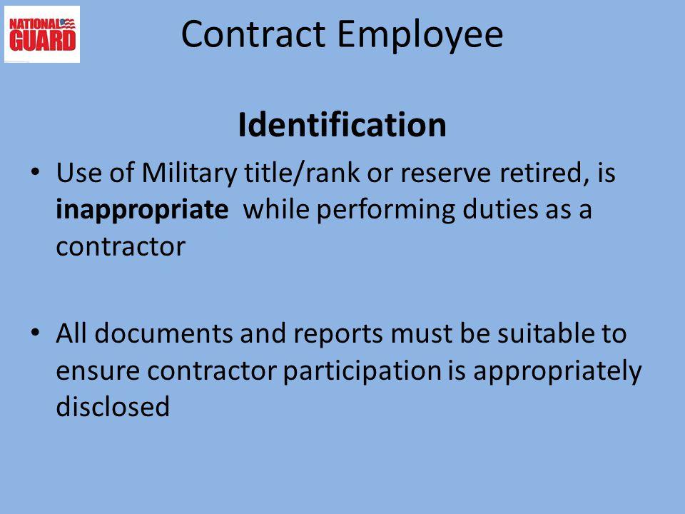 Contract Employee Identification