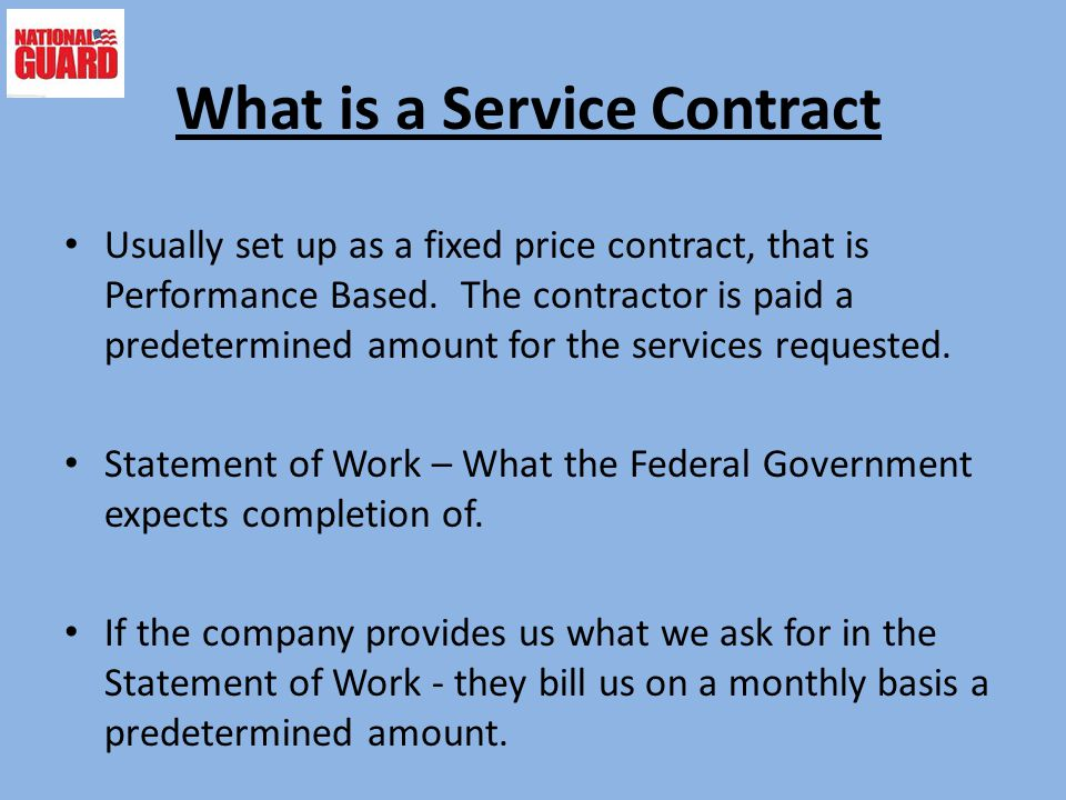 What is a Service Contract