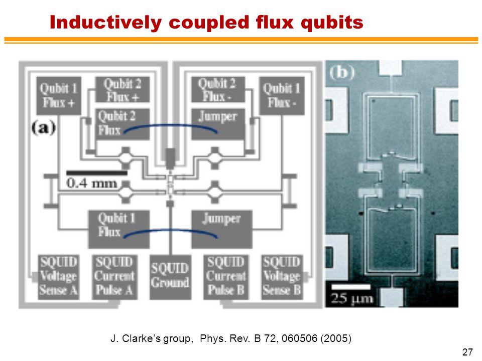 Inductively coupled flux qubits