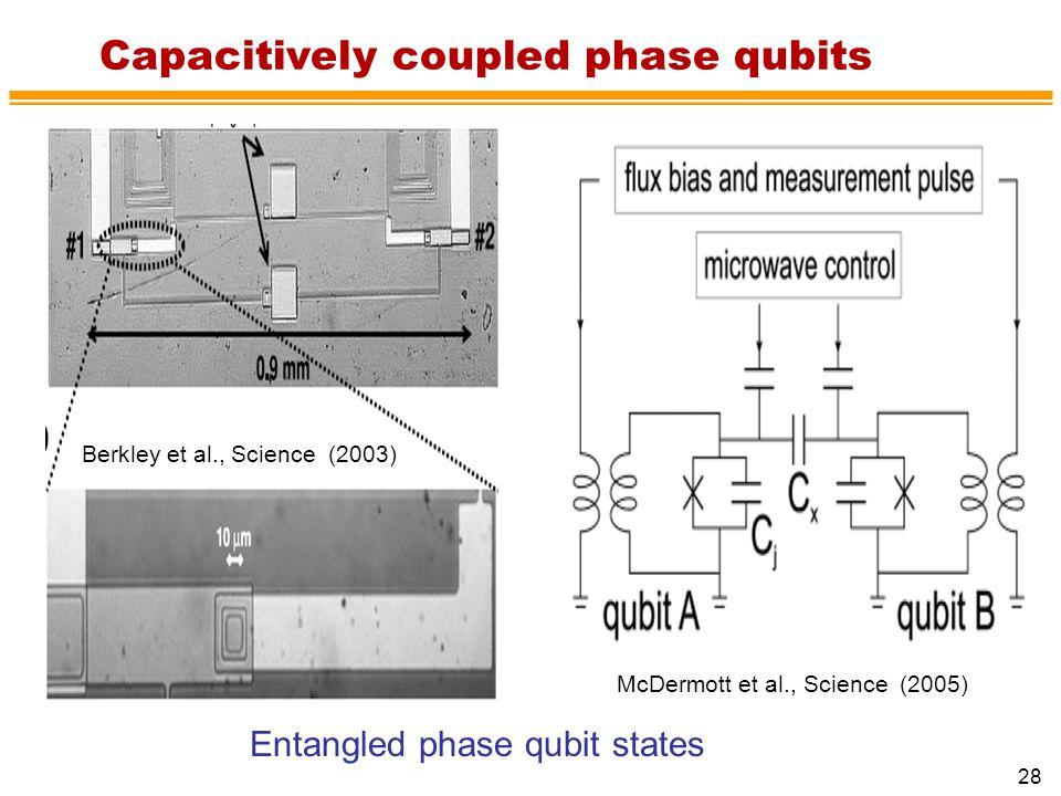 Capacitively coupled phase qubits
