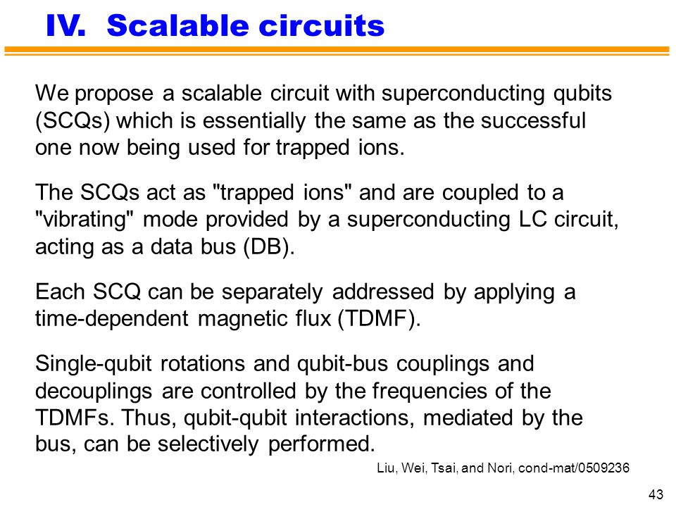 IV. Scalable circuits