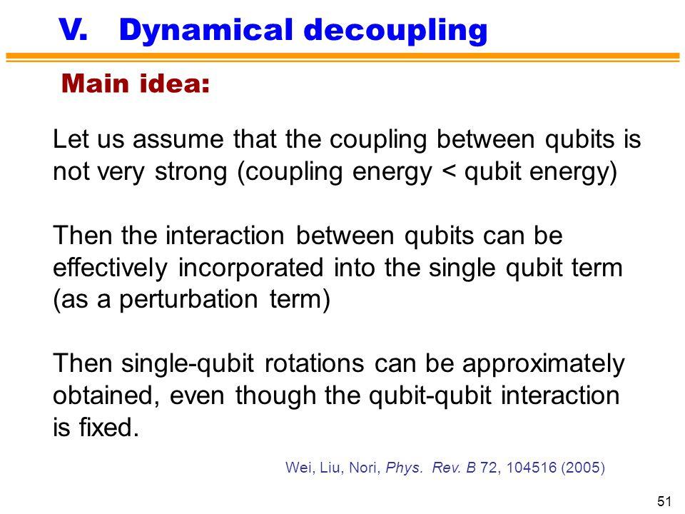 V. Dynamical decoupling