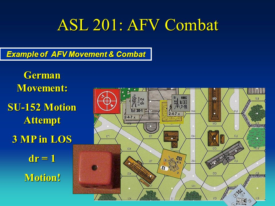 Example of AFV Movement & Combat