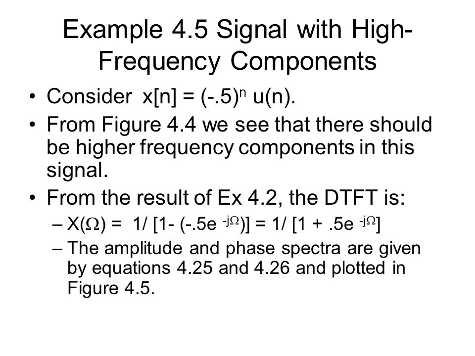 Example 4.5 Signal with High-Frequency Components