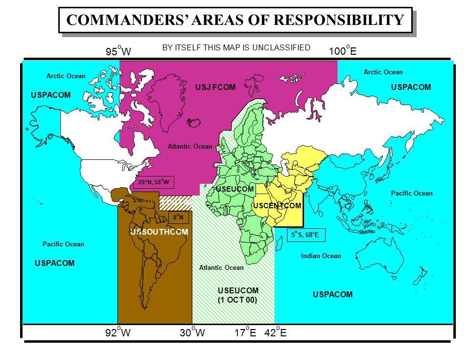 COMMANDERS' AREAS OF RESPONSIBILITY