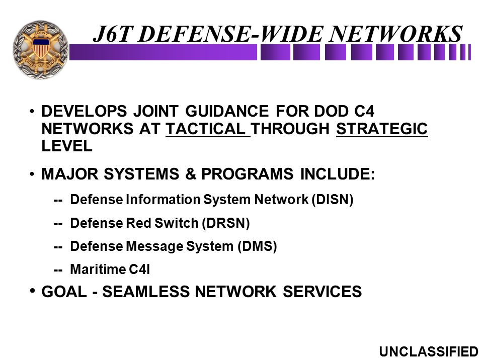 J6T DEFENSE-WIDE NETWORKS