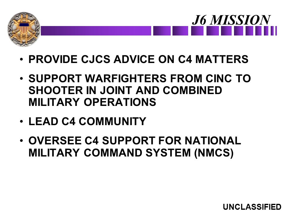 J6 MISSION PROVIDE CJCS ADVICE ON C4 MATTERS
