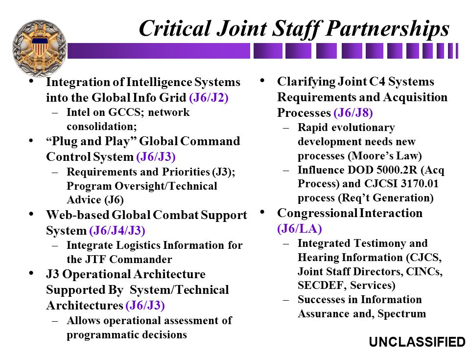 Critical Joint Staff Partnerships