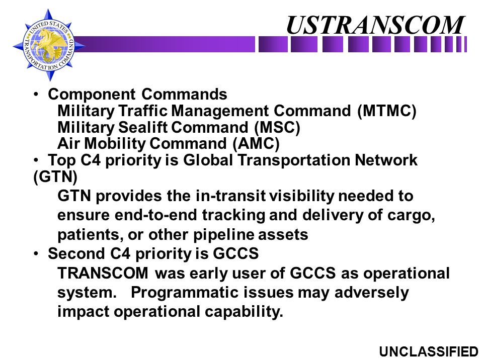 USTRANSCOM Component Commands