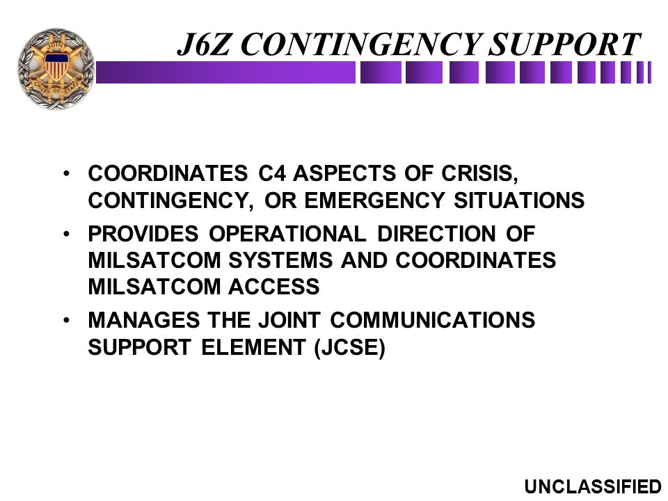 J6Z CONTINGENCY SUPPORT