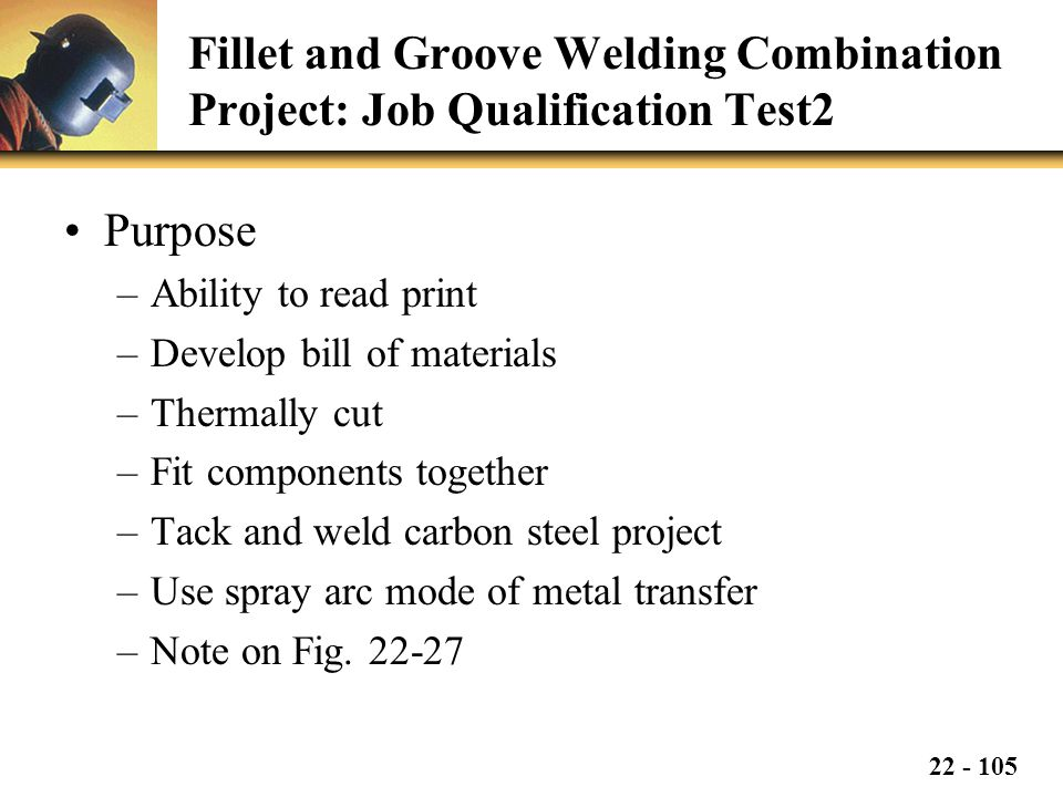 Fillet and Groove Welding Combination Project: Job Qualification Test2