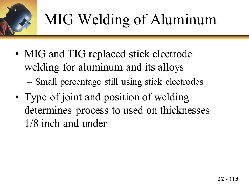 MIG Welding of Aluminum