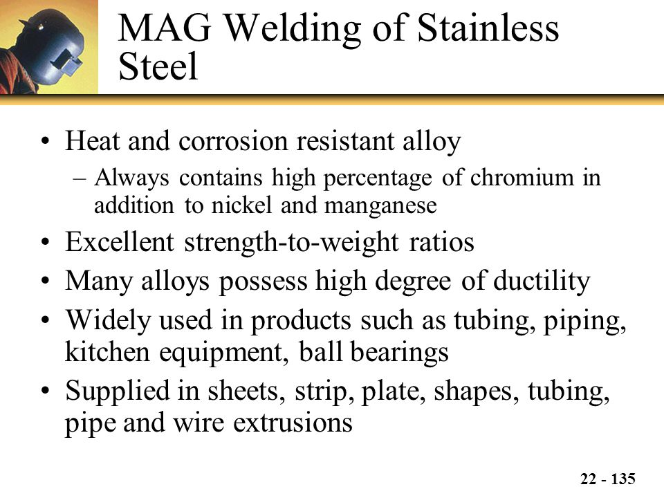 MAG Welding of Stainless Steel
