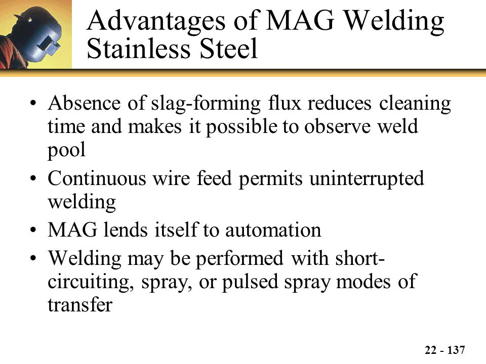 Advantages of MAG Welding Stainless Steel