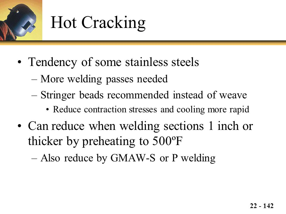 Hot Cracking Tendency of some stainless steels