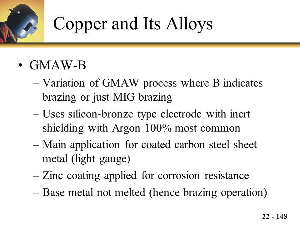 Copper and Its Alloys GMAW-B