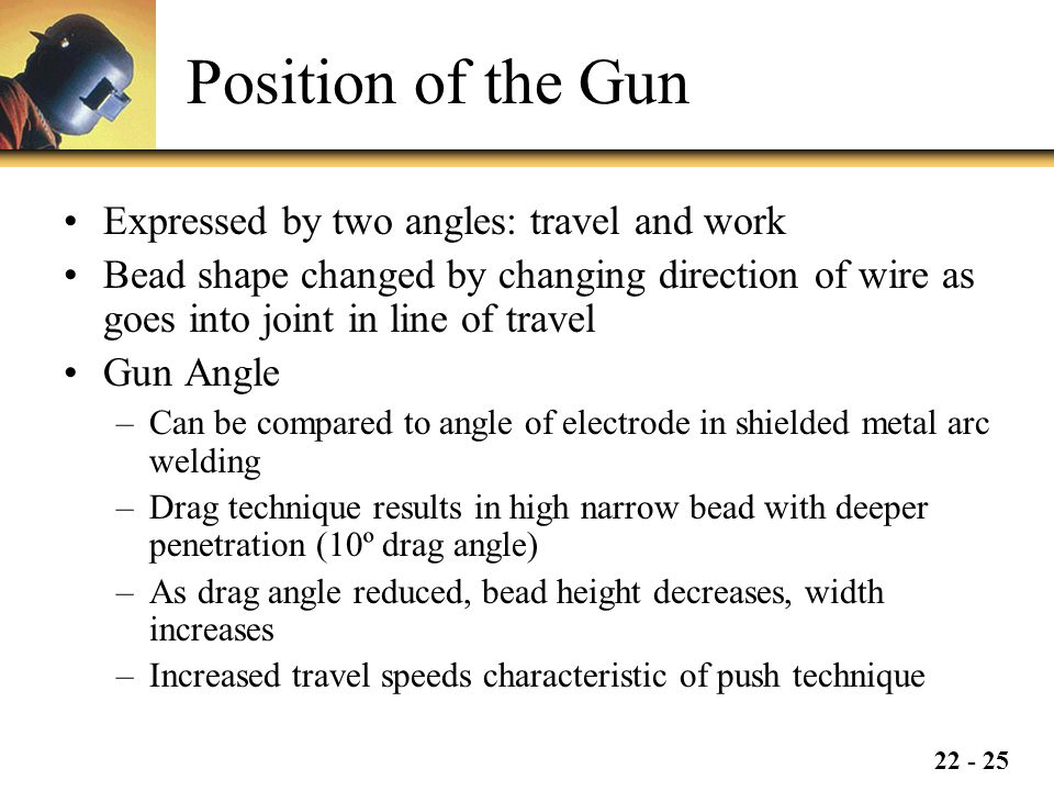 Position of the Gun Expressed by two angles: travel and work