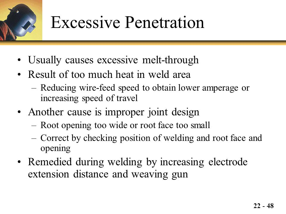 Tig welding excess penetration